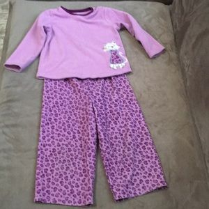Girls Carters fleece matching sleepwear set